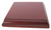 WOODEN BASE Square 10x10 Mahogany