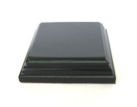 WOODEN BASE Square 4x4 Black