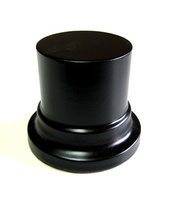 WOODEN BASES STAND Round 4,5cm Black