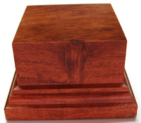 WOODEN BASES STAND Square 6x6 Bubinga