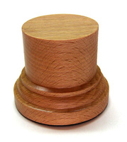 WOODEN BASE/STAND Round 4,5cm Beech