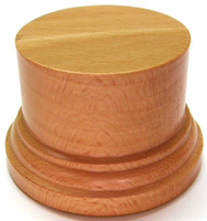 WOODEN BASE/STAND Round 6,5cm Beech
