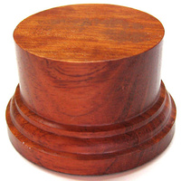 WOODEN BASE/STAND Round 6,5cm Bubinga