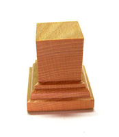 WOODEN BASE/STAND Square 3x3 Beech