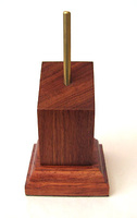 WOODEN BASE/STAND inclined 3x3 Bubinga